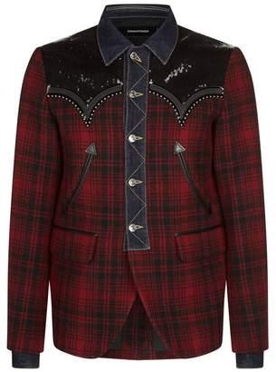 DSQUARED2 Tartan Sequin Jacket