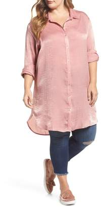 SLINK Jeans Hammered Satin Tunic Shirt