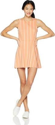 RVCA Junior's Peony HIGH Neck Flare Dress