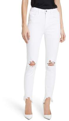 L'Agence Highline Ripped Skinny Jeans