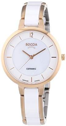 Mother of Pearl Boccia Women's Quartz Watch with Dial Analogue Display and White Ceramic Bracelet B3236-03