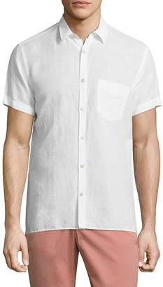 J. Lindeberg Men's Short-Sleeve Button-Down Shirt