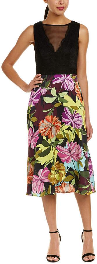 Trina Turk Luminous Silk Skirt Midi Dress