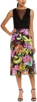 Trina Turk Luminous Silk Skirt Midi Dress