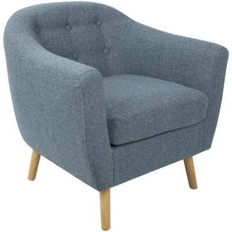At Walmart.com · Lumisource Rockwell Mid Century Modern Accent Chair With  Noise Fabric In Blue