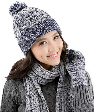e4d2ed6cedd K-mover Christmas Gift Women s 3-Pieces Slouchy Beanie Winter Warm Knit Hat