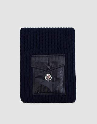 Moncler Knit Scarf in Navy