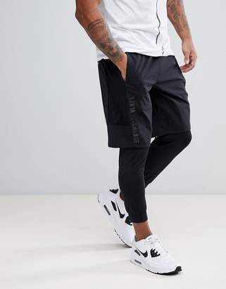 Armani Exchange Layering Shorts In Black