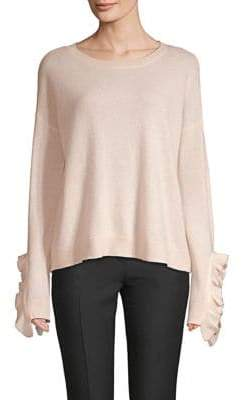 Saks Fifth Avenue Ruffle-Sleeve Cashmere Sweater