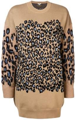 Kenzo Leopard print jumper dress