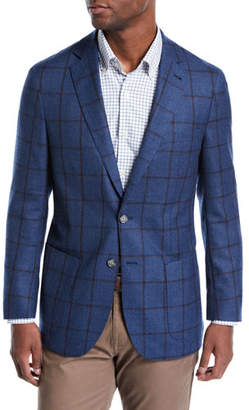 Peter Millar Men's Plaid Wool Soft Jacket