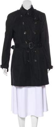Burberry House Check-Lined Short Coat