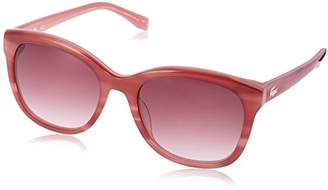 Lacoste Women's L819s Cateye Stripes & Piping Sunglasses Nude
