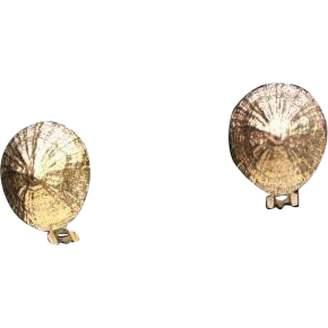 Hermes Vintage Gold Metal Earrings