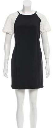 Tibi Silk & Linen Mini Dress