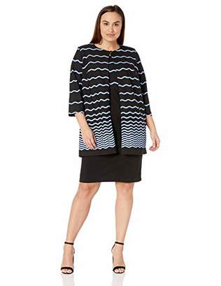 28bf403aec4 Danny and Nicole Women s Plus Size 2pc Striped Jacket and Dress