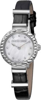 Roberto Cavalli by Franck Muller Scala Diamond Leather Strap Watch, 26mm