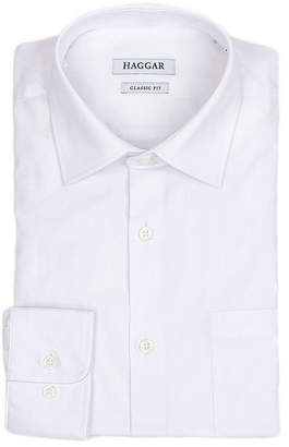 Haggar Long Sleeve Poplin Dress Shirt