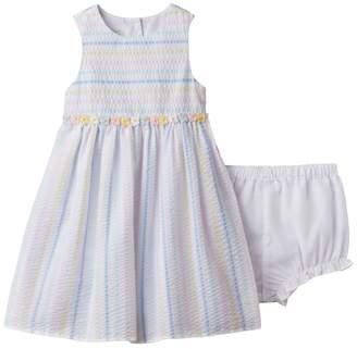 Baby Girl Marmellata Classics Striped Seersucker Dress