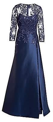Teri Jon by Rickie Freeman Women's Embellished Lace & Gazar Gown