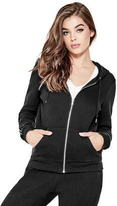 Factory Guess Women's Chelse Logo Band Hoodie