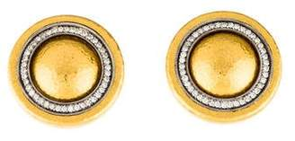 Gurhan 24K Diamond Button Earclip