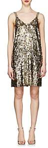 Prada Women's Sequined Silk Minidress - Gold