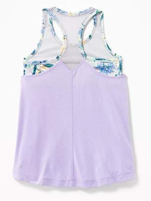 Old Navy Relaxed Go-Dry Cool 2-in-1 Mesh-Back Tank for Girls
