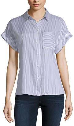 A.N.A Short Sleeve Button-Front Shirt