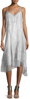 Elie Tahari Shirley Sleeveless Handkerchief Dress $468 thestylecure.com