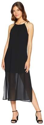 Kensie Viscose Jersey Dress with Chiffon Overlay KS6K8225 Women's Dress