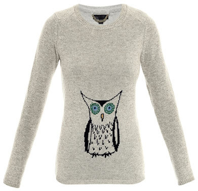 Burberry Owl intarsia knit sweater