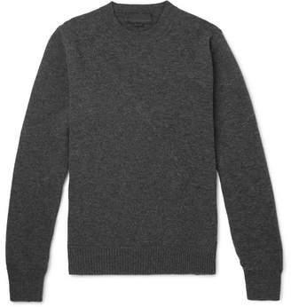 Stella McCartney Panelled Virgin Wool-Blend Sweater - Men - Charcoal