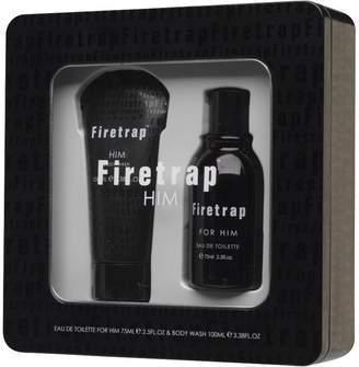 Firetrap Mens 75ml Eau De Toilette And 100ml Body Wash In Gift Set Black