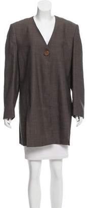 Christian Dior Collarless Wool Jacket