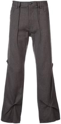 Visvim wrinkled wide-leg trousers