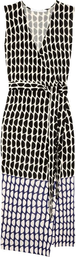 Diane von Furstenberg Zalda printed cotton-blend wrap maxi dress