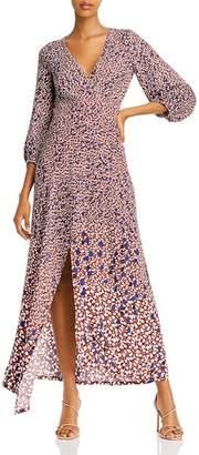Yigal Azrouel Asymmetric Leaf-Print Twill Dress