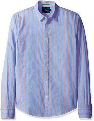 Scotch & Soda Men's Longsleeve Shirt in Crispy Poplin Quality with Special Yarn