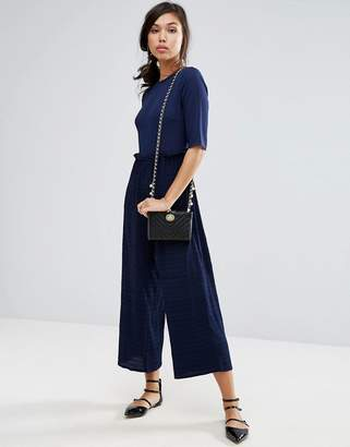 Fashion Union Jumpsuit With Shirring Detail