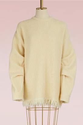 Victoria Beckham Pleated-Sleeve Sweater