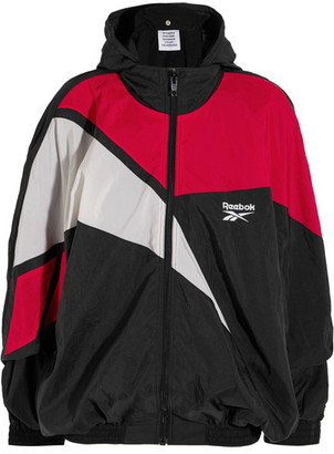 Vetements - Reebok Oversized Hooded Shell Jacket - Black $1,000 thestylecure.com
