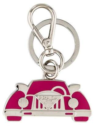 Prada Logo Car Keychain