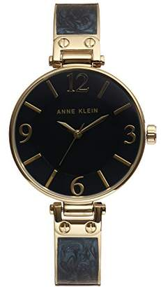 Anne Klein Women's AK/2210NMGB Gold-Tone and Navy Blue Marbleized Bangle Watch