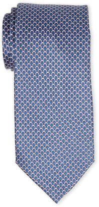 MICHAEL Michael Kors Navy Chainlink Silk Tie