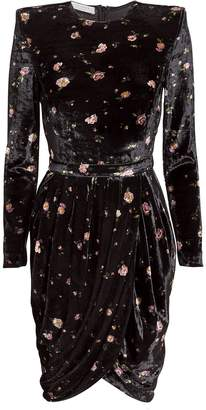 Philosophy di Lorenzo Serafini Floral Velvet Mini Dress