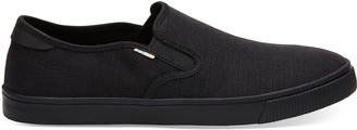 Black on Black Heritage Canvas Men's Baja Slip-Ons