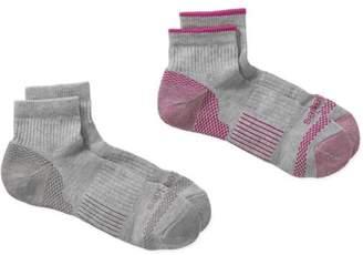 Dickies Ladies Sorbtek Performance Quarter Socks, 2 Pack