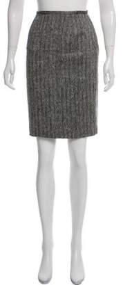 Lafayette 148 Wool Herringbone Skirt