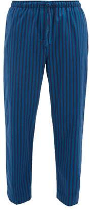 Derek Rose Striped Brushed Cotton Twill Pyjama Trousers - Mens - Blue Multi
